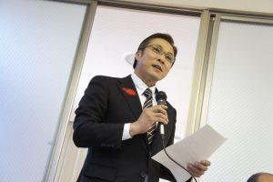 セミナーは米村町長の挨拶から始まりました。